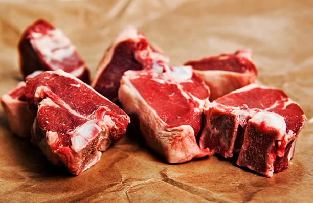 Raw Meat: Loin Rib Lamb Chops